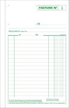 Exacompta facturen, ft 21 x 13,5 cm, tripli, Franstalig