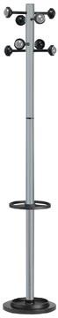Unilux kapstok Accueil, hoogte 175 cm, 8 kledinghaken, metaalgrijs