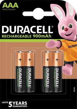 Duracell oplaadbare batterijen Recharge Ultra AAA, blister van 4 stuks