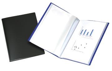 Beautone showalbum, A4, 10 tassen, blauw