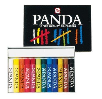 Talens Panda oliepastel, doos van 12 pastels