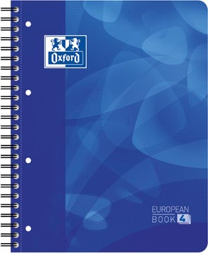 Oxford projectbook voor ft A4+, gelijnd, 4-gaatsperforatie, blauw