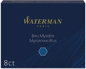 Waterman inktpatronen Standard blauw-zwart, pak van 8 stuks