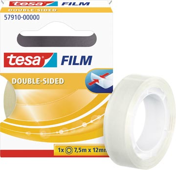 Tesafilm Double-Sided, ft 7,5 m x 12 mm