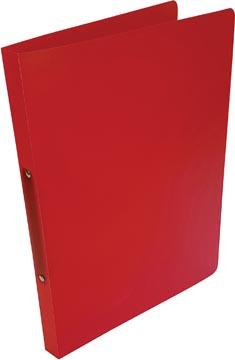 Alpha ringmap, voor ft A4, uit PP, 2 ringen van 16 mm, transparant rood