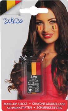 schminkstaaf in de kleuren van Belgie