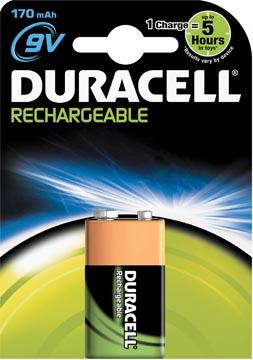 Duracell oplaadbare batterij 9V, op blister
