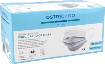 Chirurgisch mondmasker, type IIR, 3- laags, met CE certificaat, doos van 50 stuks