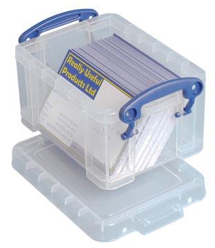 Really Useful Box visitekaarthouder 0,3 liter, transparant